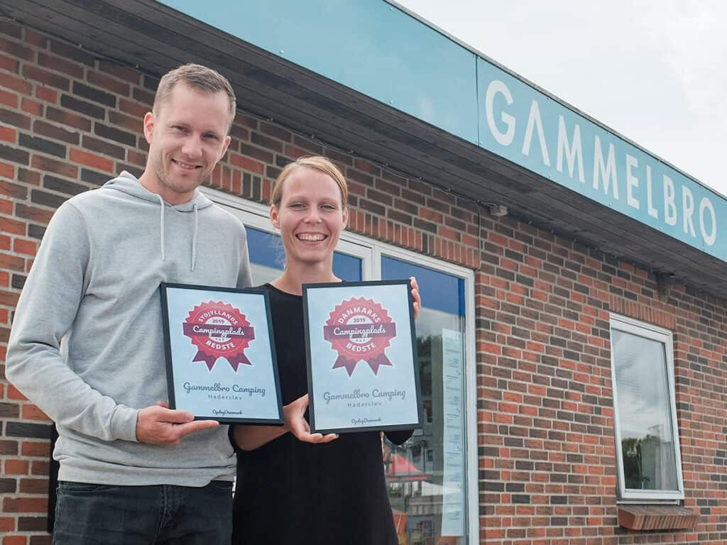 oldbro camping in haterslev receives the award for being Denmark's best in 2019