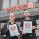 the cafe receives the diploma for funen's best burger 2019